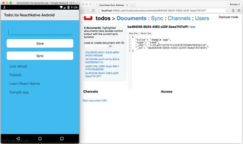 React Native Android Tutorial Windows | getting started with react native android and couchbase