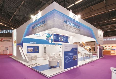 booth design company aurobindo pharma booth by insta exhibitions at cphi 2014