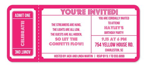 Admit One Ticket Invitation Www Pixshark Com Images Galleries With A Bite Admit One Invitation Template