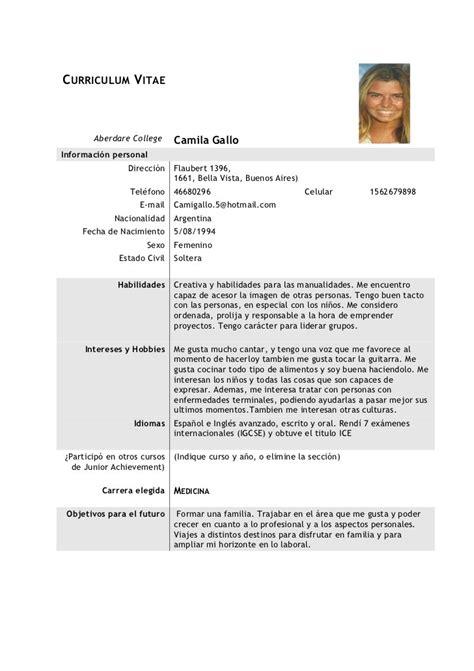 Modelo Curriculum Vitae Chile Doc Curriculum Vitae Modelo Cvs