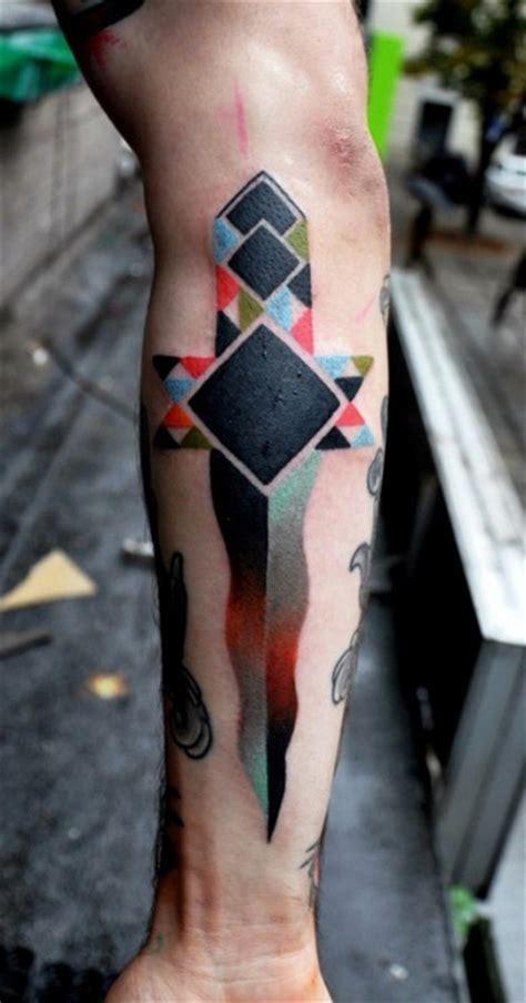 tattoo cross geometric geometric cross tattoo