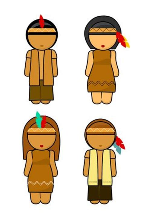 Indian And Pilgrim Photo Place Cards And Napkin Ring Template by Indian Preschool Crafts American Indian Napkin