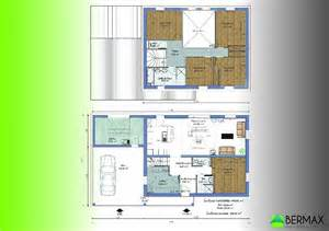 maison 6 chambres plan top
