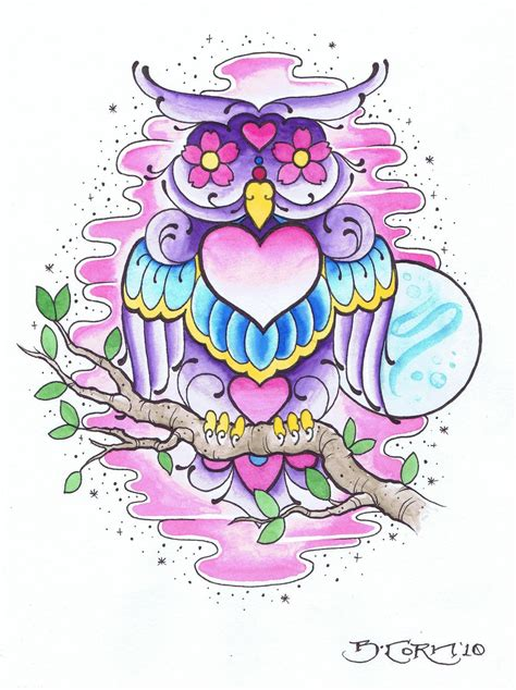 girly owl tattoo design awesome girly owl tattoo ideas pinterest girly