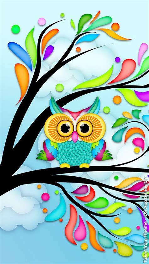 colorful owl wallpaper owl lockscreen wallpaper design for iphone 5 5s 5c