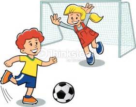 imagenes de niños jugando futbol en caricatura play football vector illustration vector art thinkstock