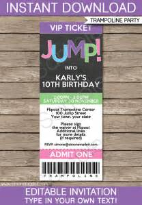 troline birthday ticket invitations