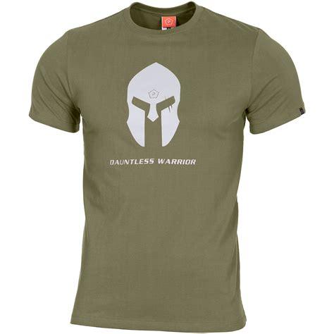 pentagon ageron t shirt spartan helmet olive t shirts
