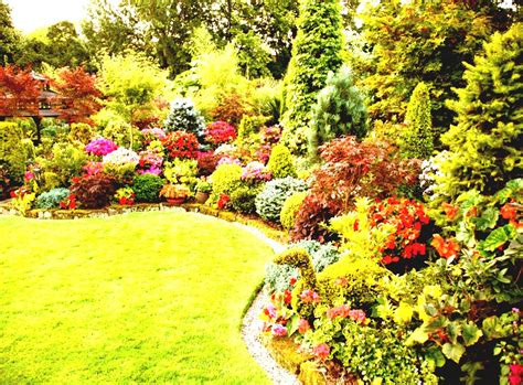flower garden design ideas green perennial flower garden ideas for spacious backyard