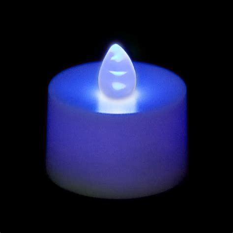 battery operated flickering lights flickering battery operated tea light candle blue