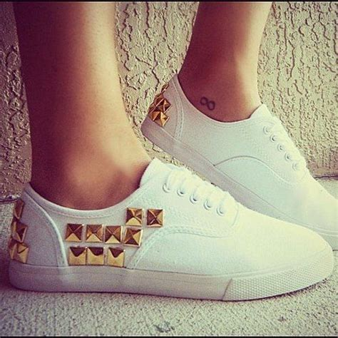 diy studs on shoes gold studded vans leather studs and spikes
