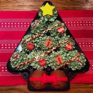 christmas tree cupcake platter base lid