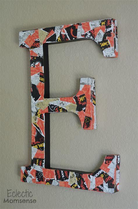 decoupage cardboard letters mickey decoupage letter eclectic momsense