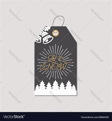 merry christmas   year gift tag holiday vector image