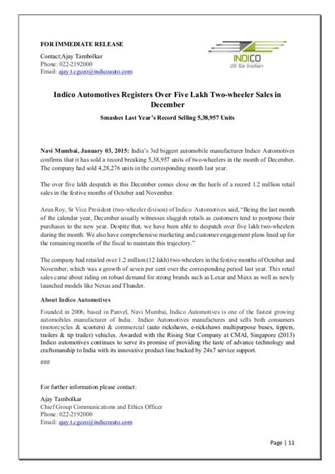 simple press release template sle press release
