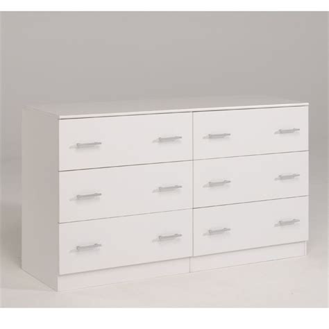 commode cdiscount suny commode 6 tiroirs 151cm blanc achat vente commode
