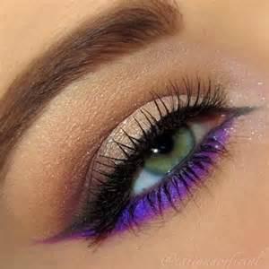 color eyeliner 17 best ideas about purple eyeliner on gold