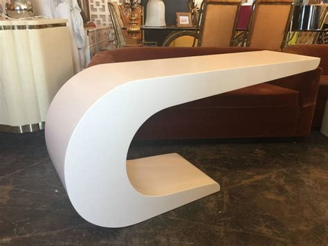 c shaped console table newly lacquered c shaped console table in the style of
