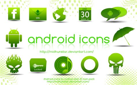 icons for android 25 best android icons set for free trickvilla