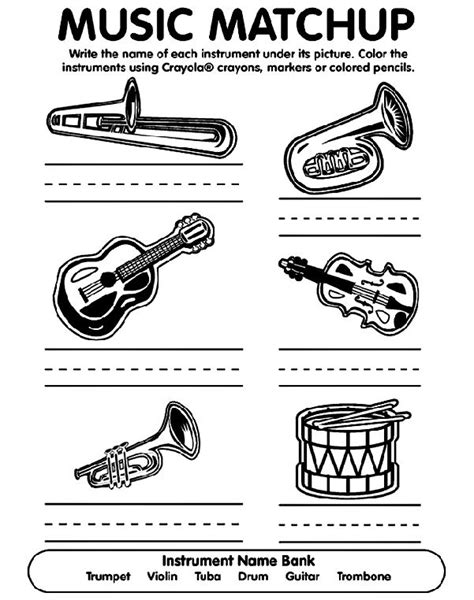 jazz music coloring pages musical match up coloring page from crayola jazz