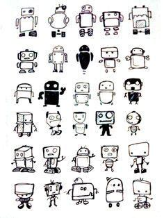 doodle robot meaning robot drawing ideas robot doodles