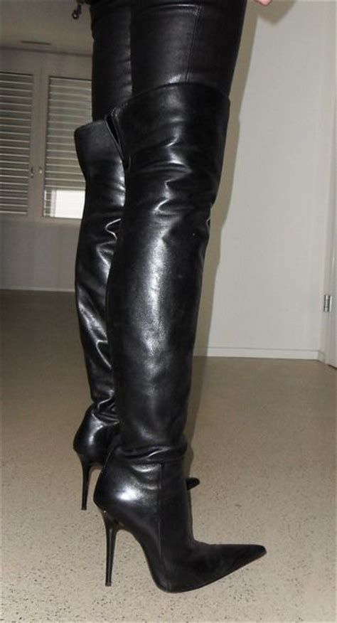 high boots leather and leather on