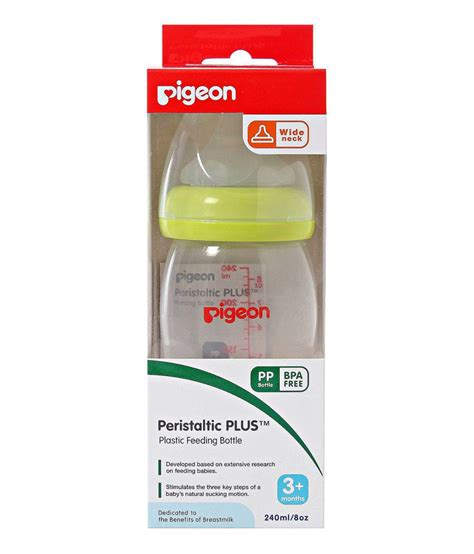 Promo Buy 2 Free 1 Pigeon 240 Ml Peristaltic Silicone M pigeon peristaltic plus plastic feeding bottle 240