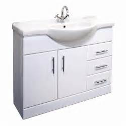 arcadia 1050mm white gloss bathroom vanity unit basin ebay