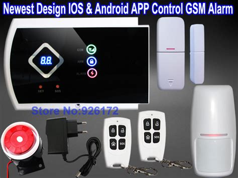 newest arrival band gsm alarm system ios android app