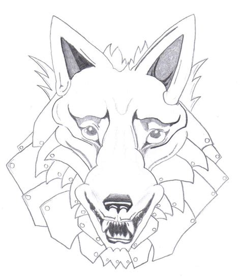 iron wolf tattoo iron wolf outline by bloodfangtattoos on deviantart