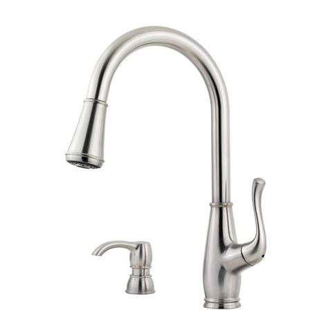 pull down kitchen faucets stainless steel pfister sedgwick single handle pull down sprayer kitchen