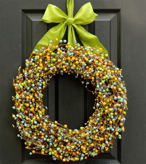 front door wreath berry wreath door decoration