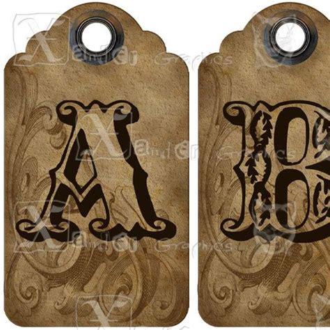 printable vintage alphabet letters printable letters 13