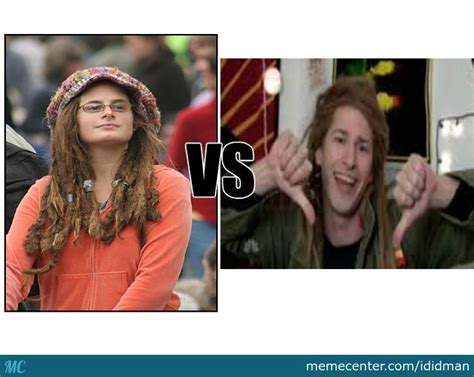 Hippie Girl Meme - hippie girl vs ras trent by recyclebin meme center