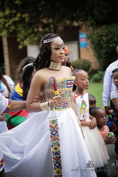 Wedding Dresses Wear by Zulu Traditional Wear Inspired White Wedding Gown Afro
