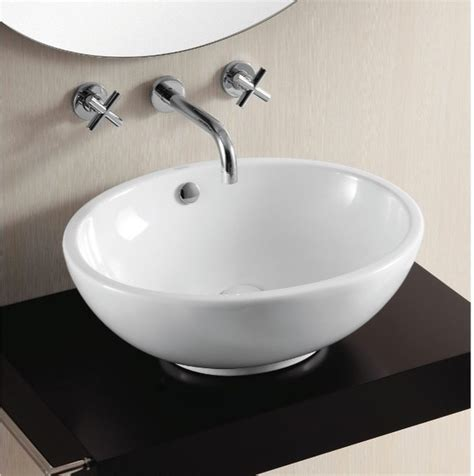 counter sinks bathroom gorgeous oval above counter vessel sink by caracalla