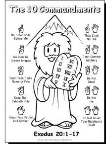 10 commandments printable coloring pages 10 commandment