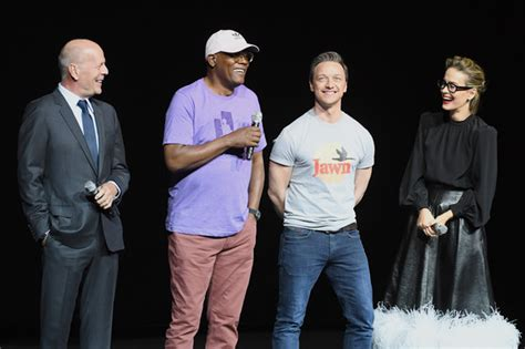 james mcavoy and bruce willis bruce willis and james mcavoy photos photos cinemacon