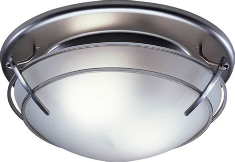 bathroom ceiling fan light with frosted glass shade satin
