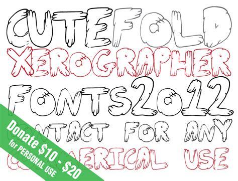 xerographer dafont cutefold font dafont com