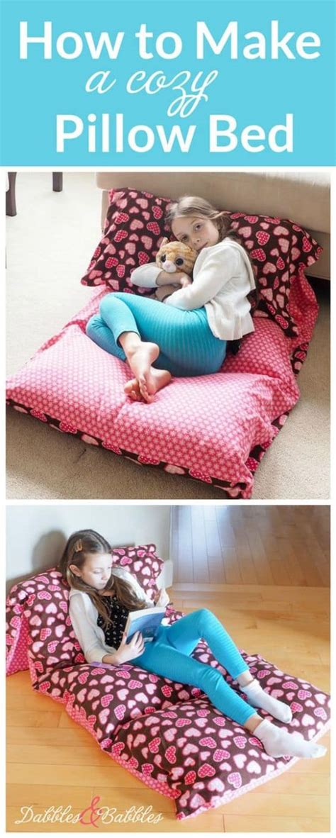 diy floor pillow bed easy to follow video instructions