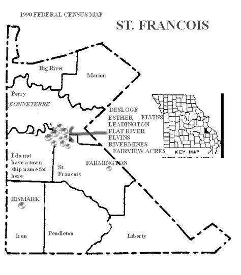 missouri map county lines francois county missouri maps and gazetteers