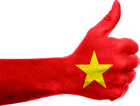 vietnam flag hand thumbs 183 free image on pixabay