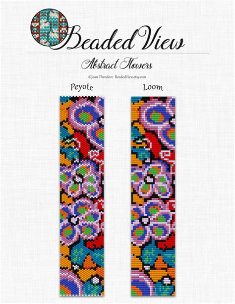 flower bead loom patterns loom bead pattern beading pattern flower bracelet
