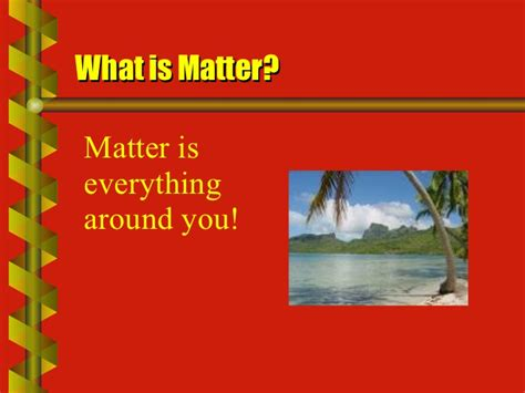 what is matter matter mass volume