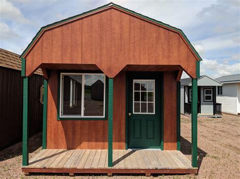 lofted dutch barn   porch sku sd sheds delivered barns cabins garages