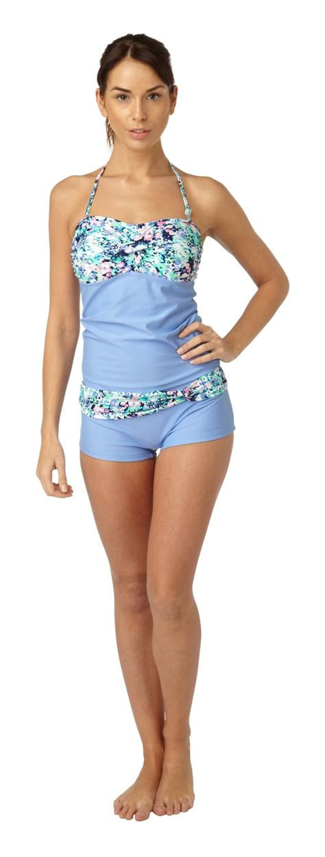 Set Top Swim Shorts womens tankini set vest top shorts summer