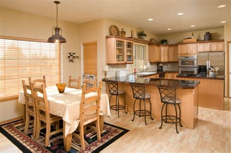 Kitchen With Dining Room Designs Combining Your Kitchen And Dining Room Yourwineyourway