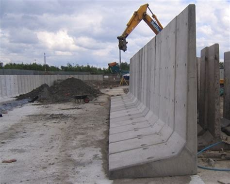 Wall L by L Shaped Vertical Concrete Walls King Post Walls Phi