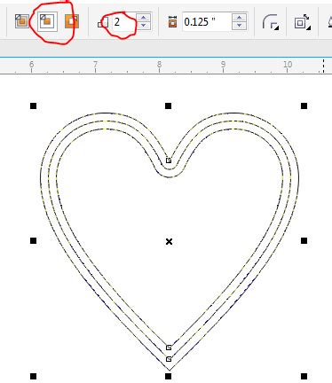 how to draw a heart in coreldraw x7 understanding the use of the contour tool corel connect